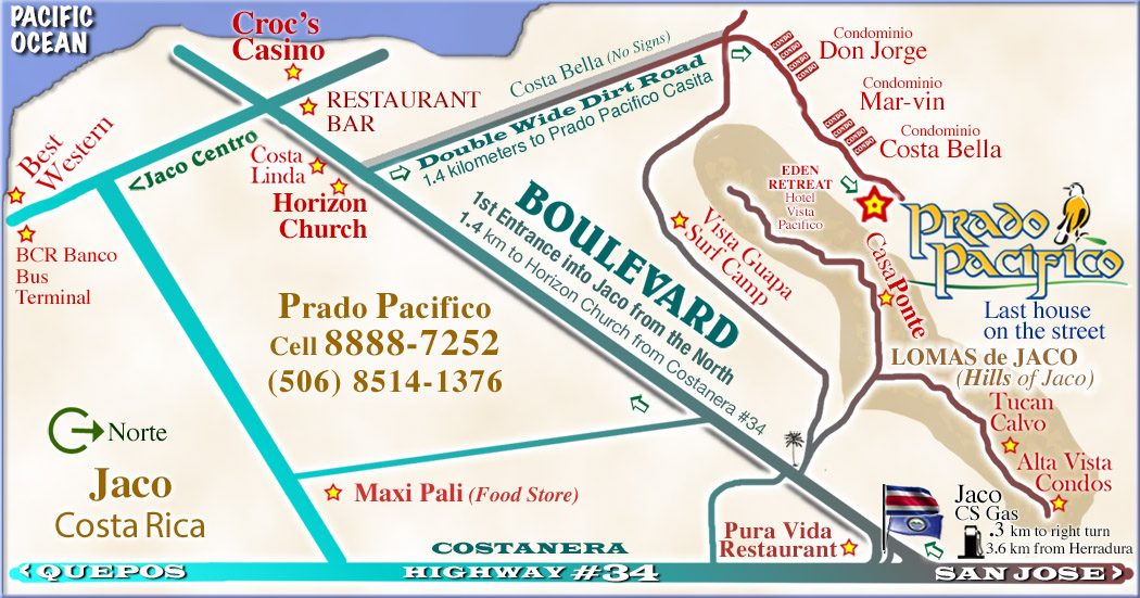Locaation Map             for Prado Pacifico